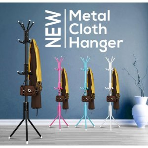 Density Stainless Steel Cloth Hanger Hanging Pole Rack Bag Handbag Jacket Hat Umbrella