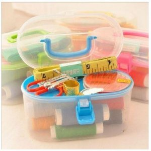 1 Set Sewing Tool Pack Kit Thread Threader Needle Tape Measure Scissor