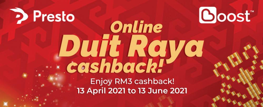 Boost Online Duit Raya Cashback