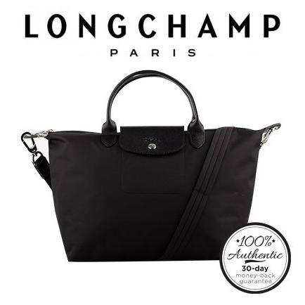 wide selection of colors outlet online the sale of shoes Longchamp Le Pliage Neo Medium Size 1515 - Black