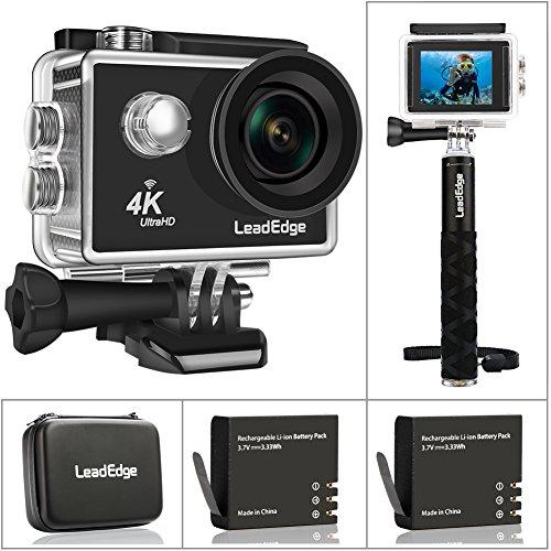 LeadEdge Action Camera 4K Ultra HD WiFi Sports Video Cam Waterproof DV  Underwater Camcorder 16MP 30M Diving 4K/30FPS 1080P/60FPS 720P/120FPS 170°  Wide