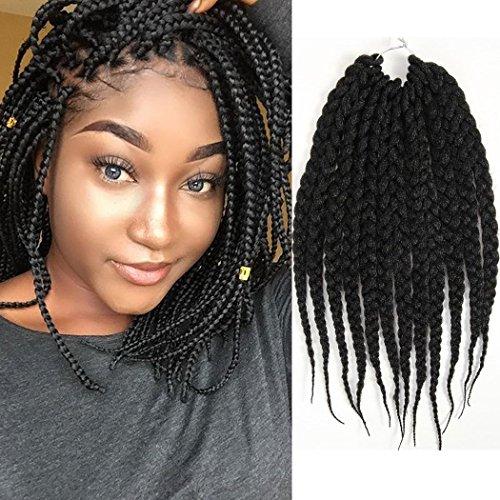 12 Inches 6 Packs Box Braids Hair Synthetic Hair Extensions Crochet Hair  Senegalese Twist Braiding