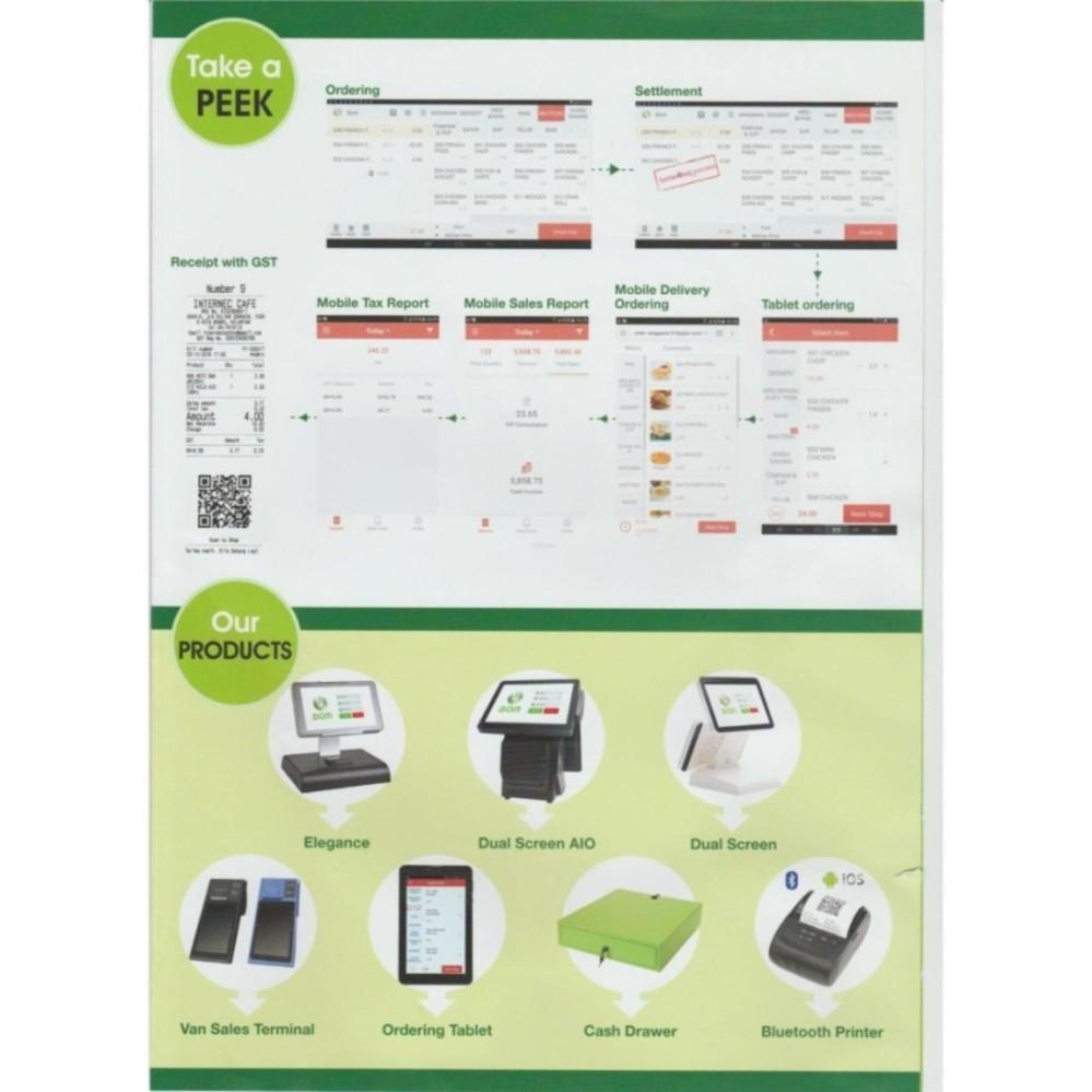 BOM POS Cash Register for FnB & Retails