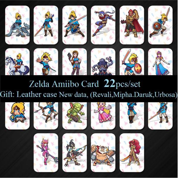 22 Pcs Zelda Amiibo NFC Tag Cards For Nintendo Switch / WiiU