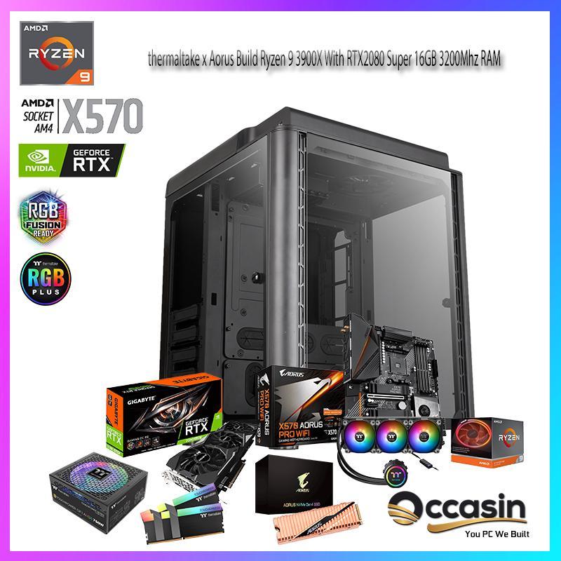 thermaltake x Aorus Build Ryzen 9 3900X With RTX2080 Super 16GB 3200Mhz RAM