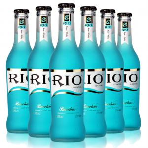 RIO锐澳鸡尾酒蓝玫瑰+威士忌味/半打装(6瓶) RIO COCKTAIL BLUE ROSE+WHISKY FLAVOR